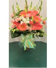 Vase Arrangement  with Pinks and Whites