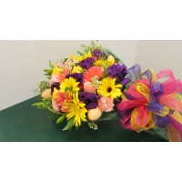Wrapped Flower Arrangement