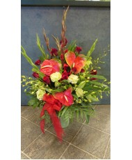 Tropical Arrangement with Anthirium