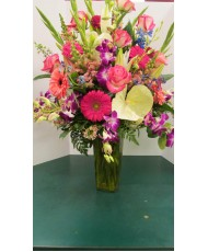 Vase Arrangement, with Mix colors
