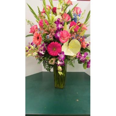 Vase Arrangement, with Mix colors